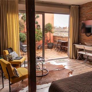 Décor pour votre tournage : terrasse de l'appartement Tour Croix Baragnon