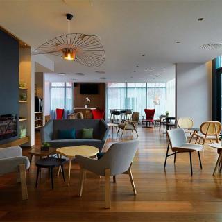 Décor pour votre tournage : le lounge de l'hôtel Residence Inn by Marriott