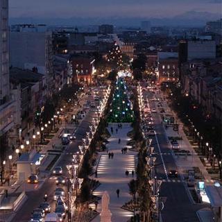 Décor pour votre tournage : vue aérienne des allées Jean-Jaurès à Toulouse