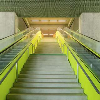 Décor pour votre tournage : les escalators du MEETT © Christophe Picci