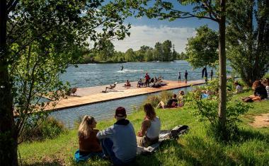 Décor pour votre tournage : le lac de Sesquières à Toulouse